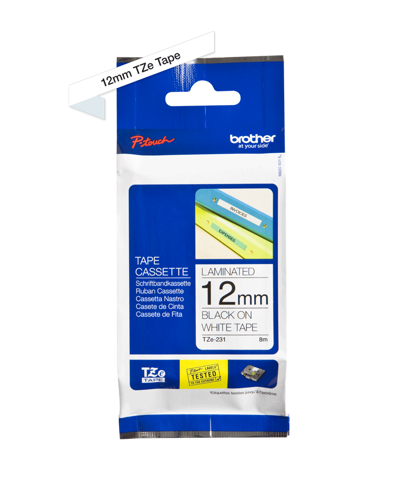 Brother TZe-231 12mm labeltape 3
