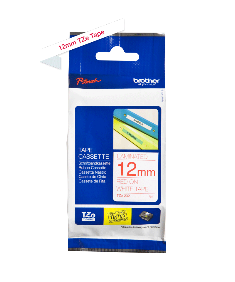 Brother TZe-232 12mm labeltape 3