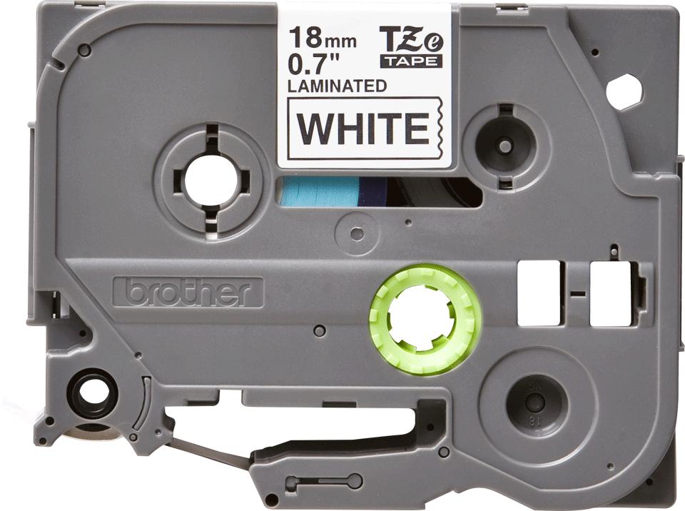 Originele Brother TZe-241 labeltape cassette – Zwart op wit, 18mm breed 0