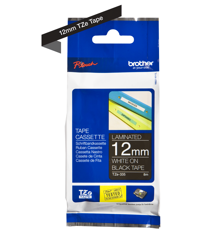 Brother TZe-335 12mm labeltape 3