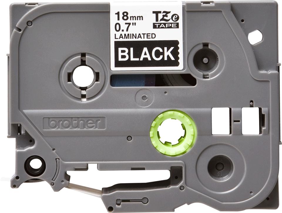 Originele Brother TZe-345 labeltape cassette – Wit op zwart, 18mm breed 0