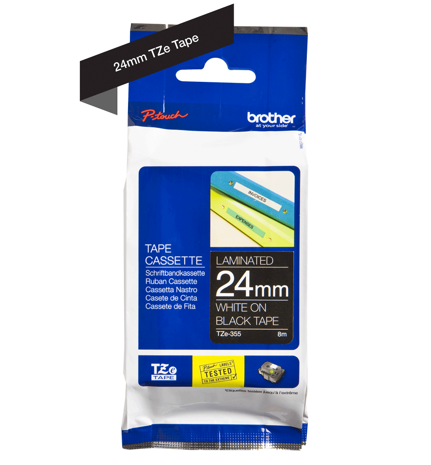 Brother TZe-355 24mm labeltape 3