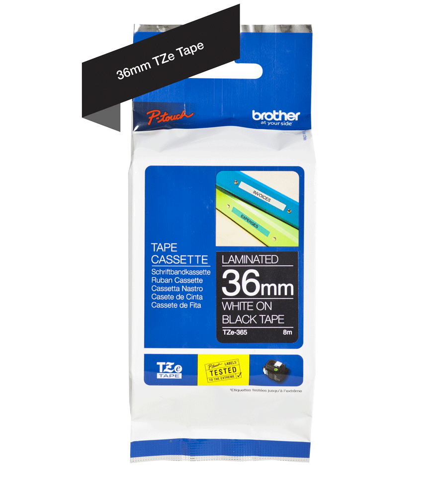 Brother TZe-365 36mm labeltape 3