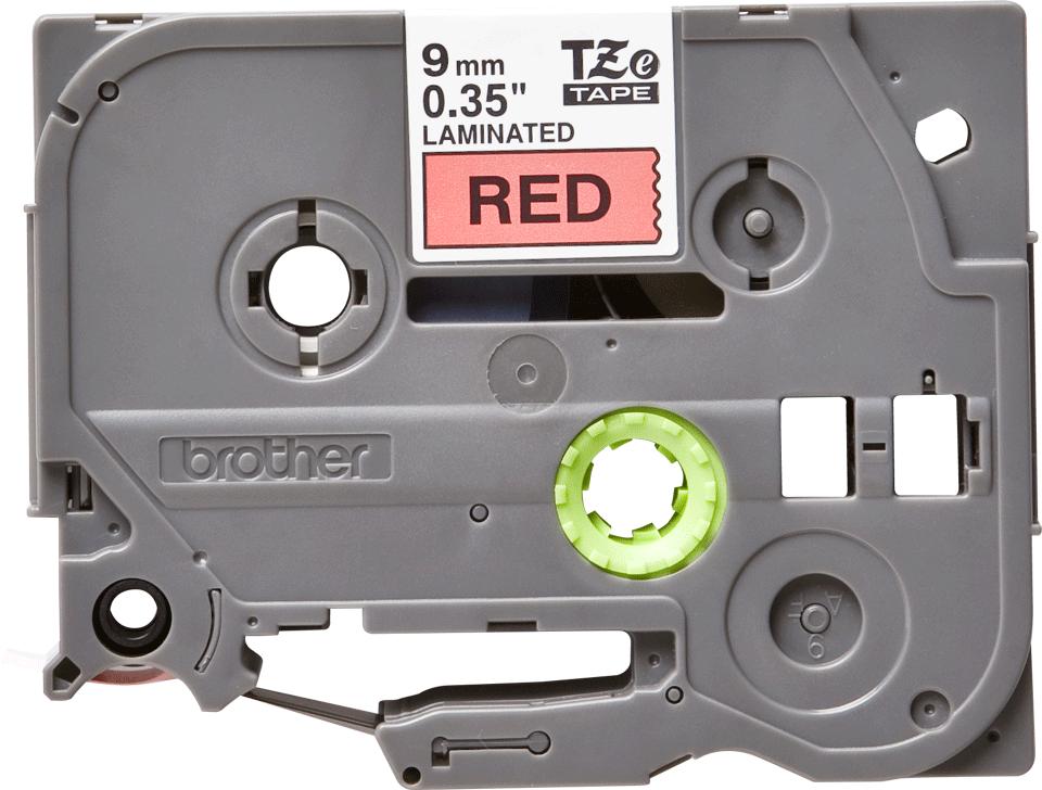 Cassette à ruban pour étiqueteuse TZe-421 Brother originale – Noir sur rouge, 9mm de large 0