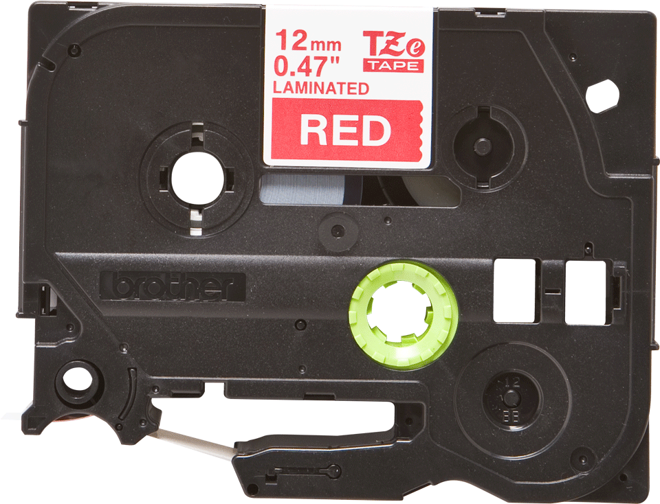 Cassette à ruban pour étiqueteuse TZe-435 Brother originale – Blanc sur rouge, 12mm de large 0
