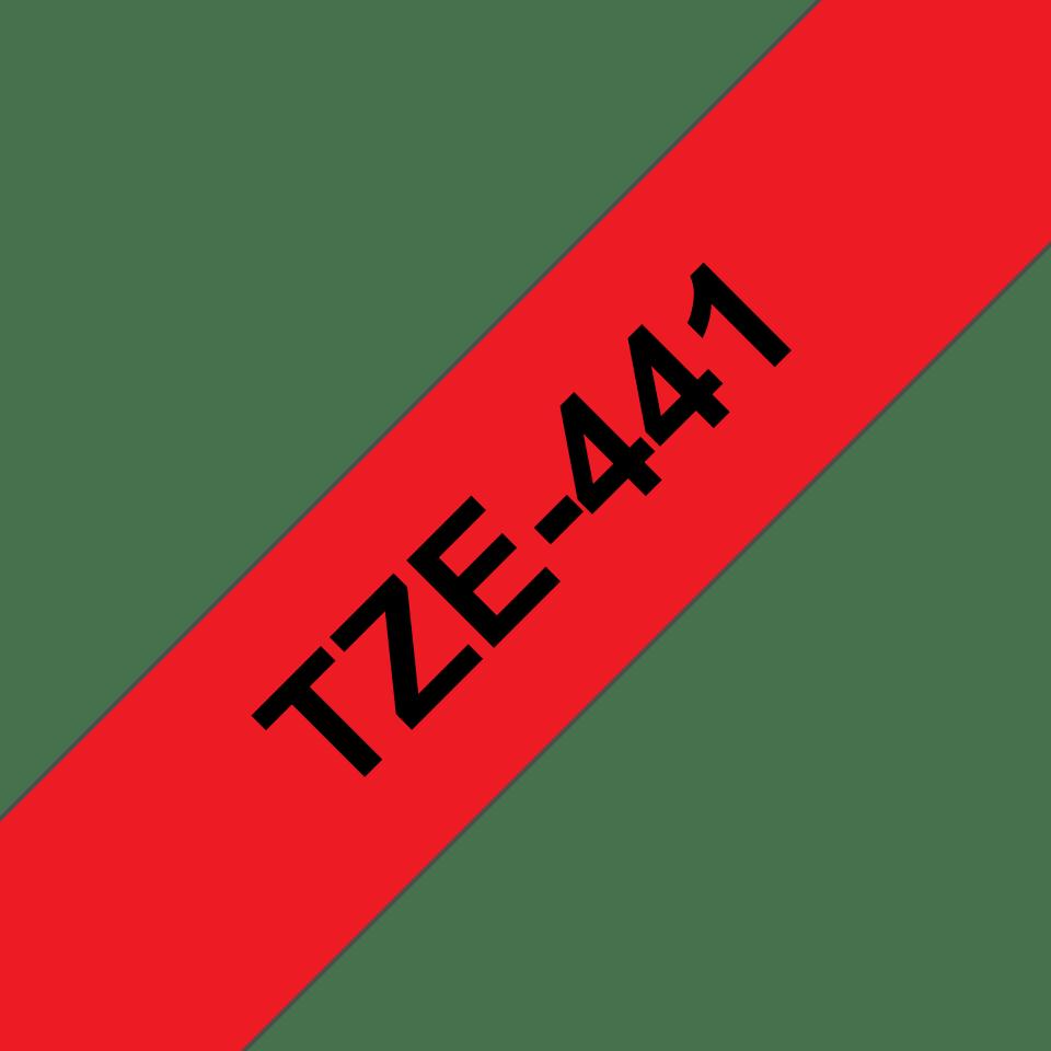 Cassette à ruban pour étiqueteuse TZe-441 Brother originale – Noir sur rouge, 18mm de large 3