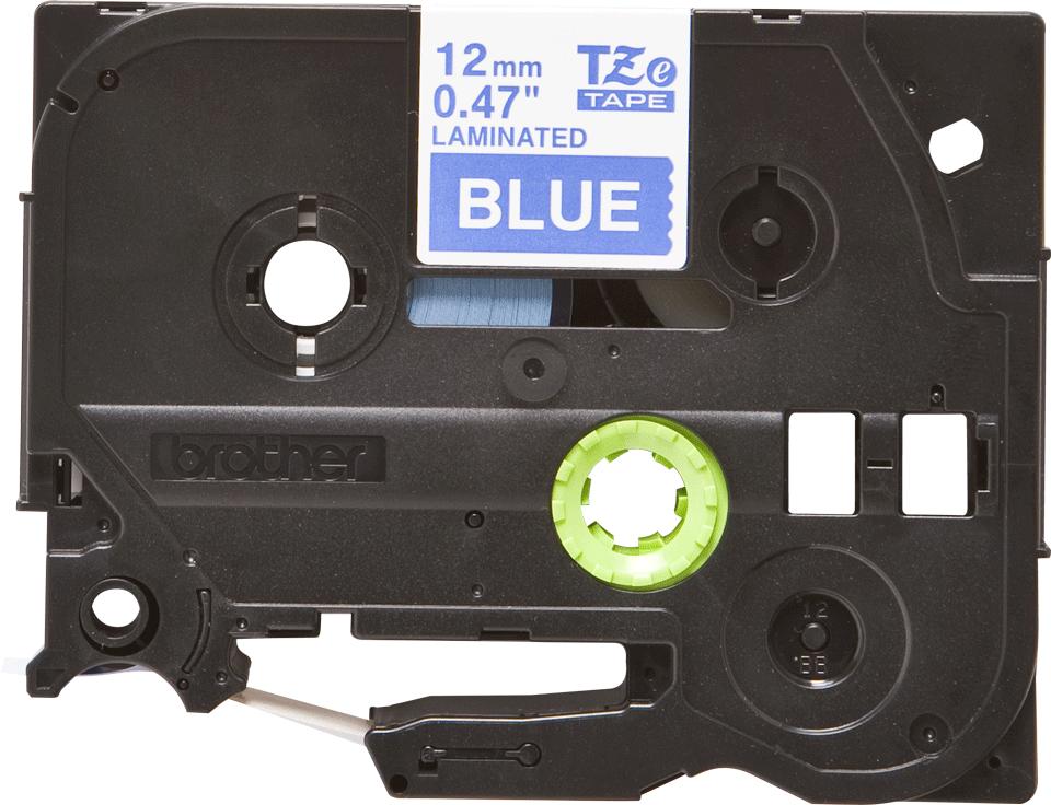 Originele Brother TZe-535 labeltape cassette – Wit op blauw, 12mm breed 0