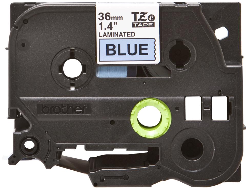 Originele Brother TZe-561 labeltape cassette – Zwart op blauw, 36mm breed 0
