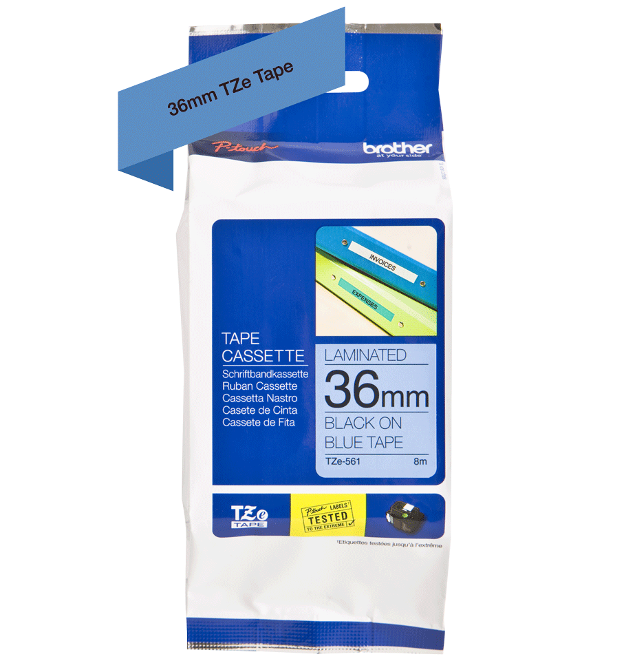 Brother TZe-561 36mm labeltape 3