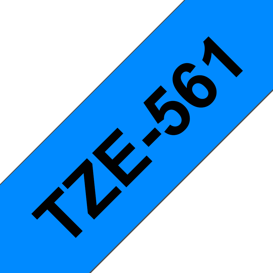 Originele Brother TZe-561 labeltape cassette – Zwart op blauw, 36mm breed 2