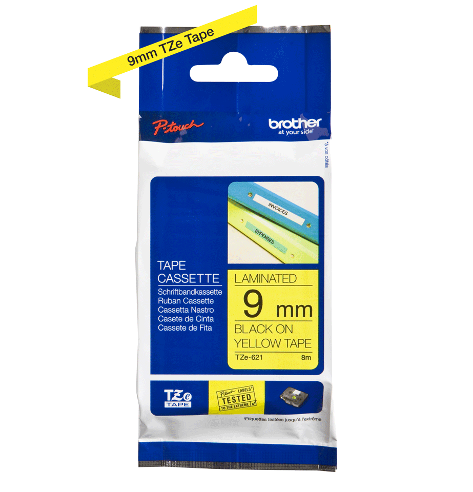 Brother TZe-621 9mm labeltape 3