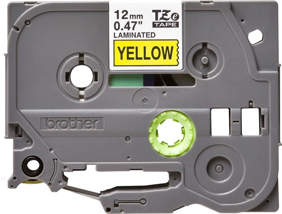 Cassette à ruban pour étiqueteuse TZe-631 Brother originale – Noir sur jaune, 12mm de large 0