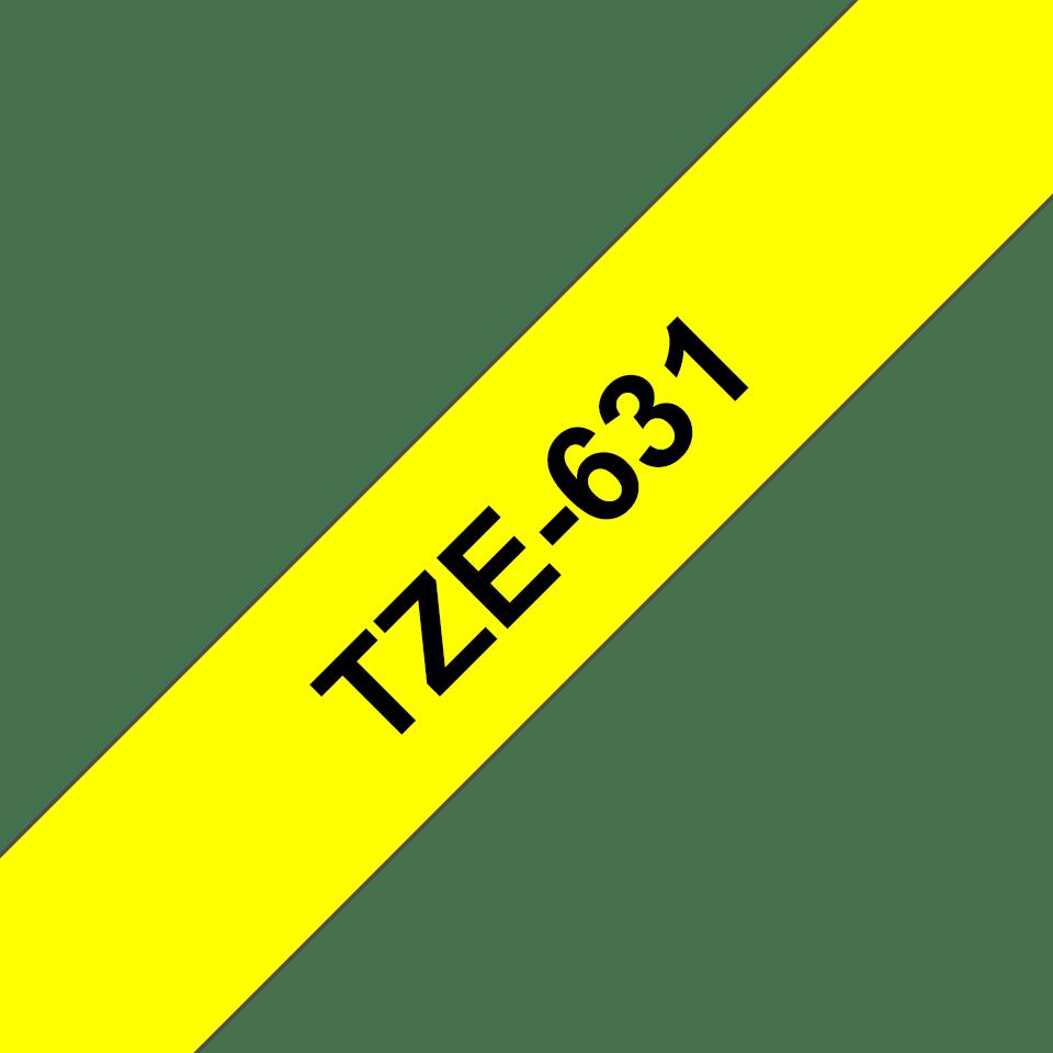 Cassette à ruban pour étiqueteuse TZe-631 Brother originale – Noir sur jaune, 12mm de large 2