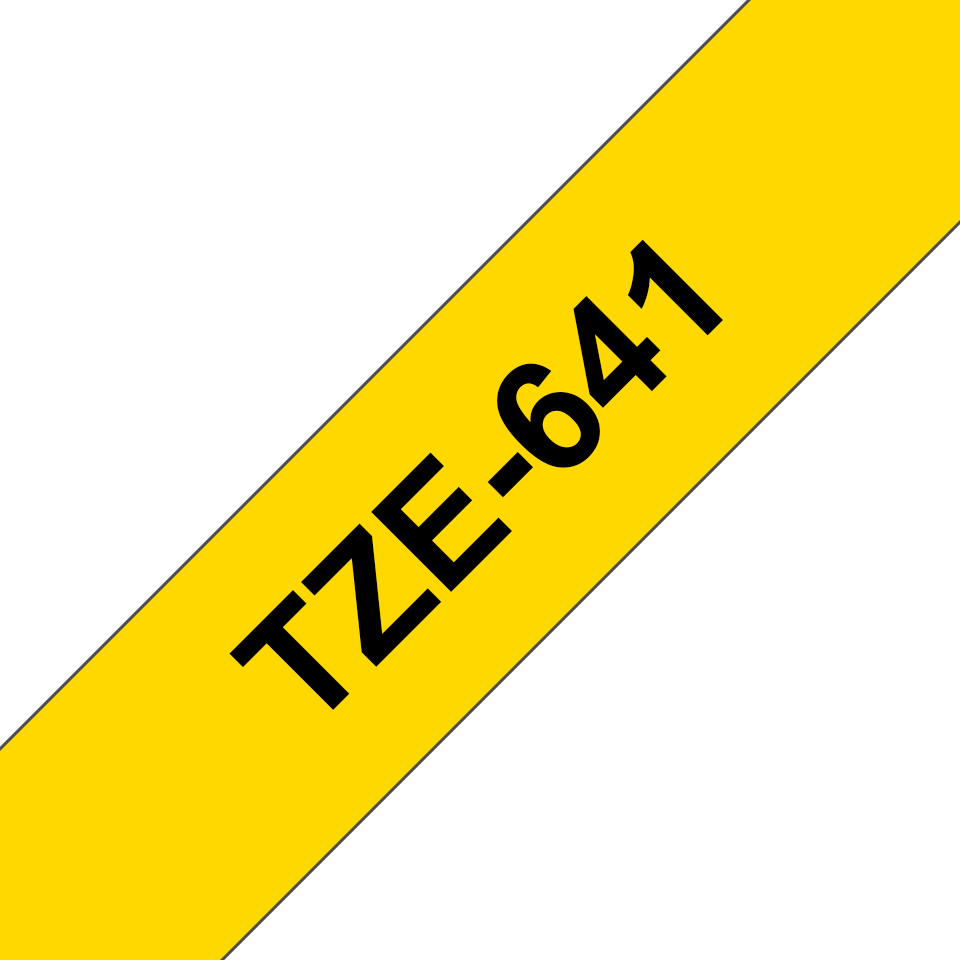 Originele Brother TZe-641 labeltape cassette – Zwart op geel, 18mm breed 2