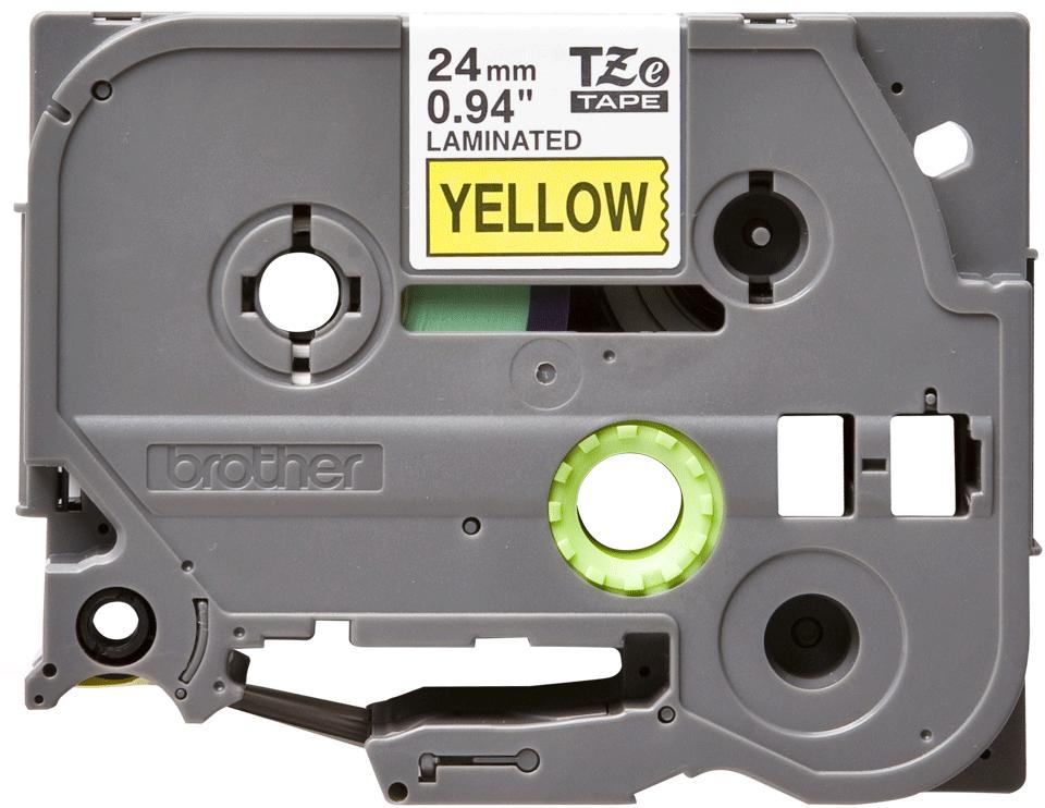 Originele Brother TZe-651 labeltape cassette – Zwart op geel, 24mm breed 0