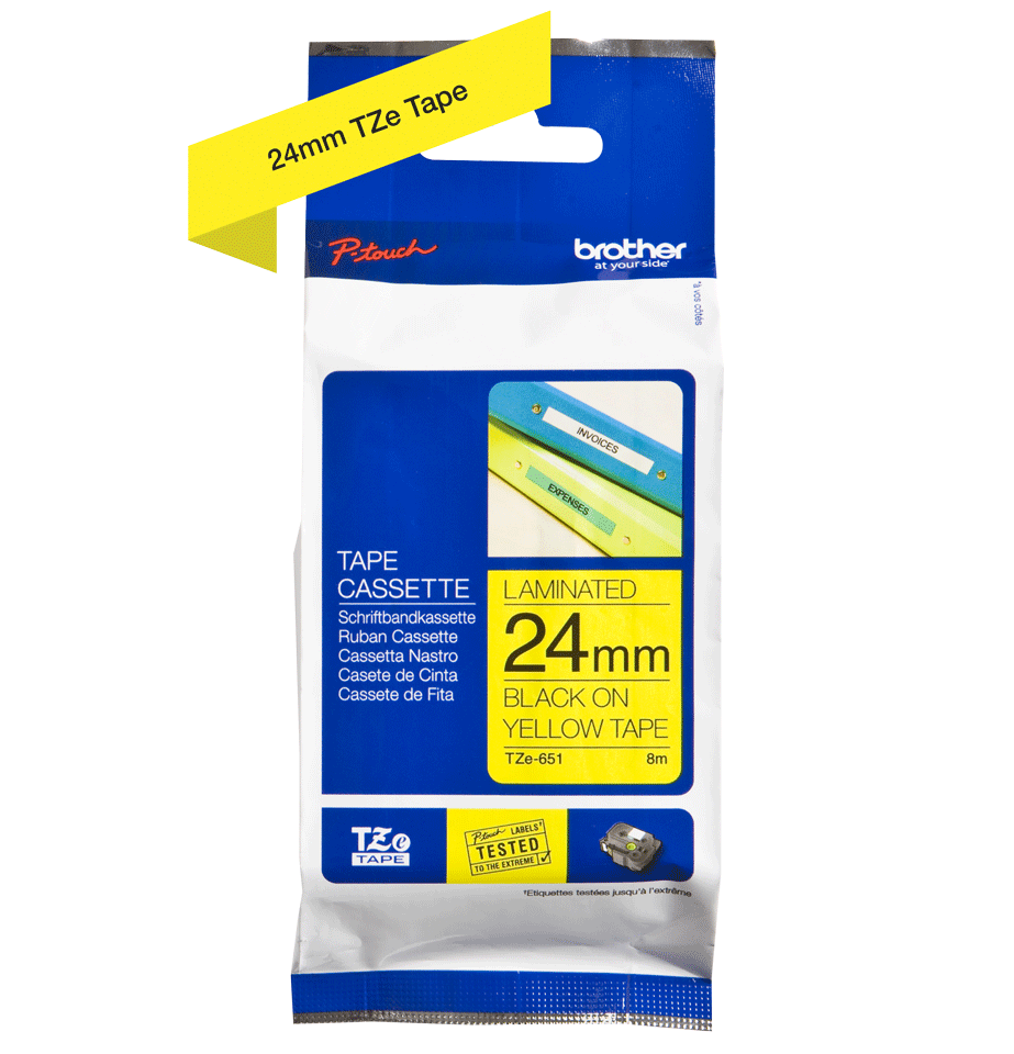Brother TZe-651 24mm labeltape 3