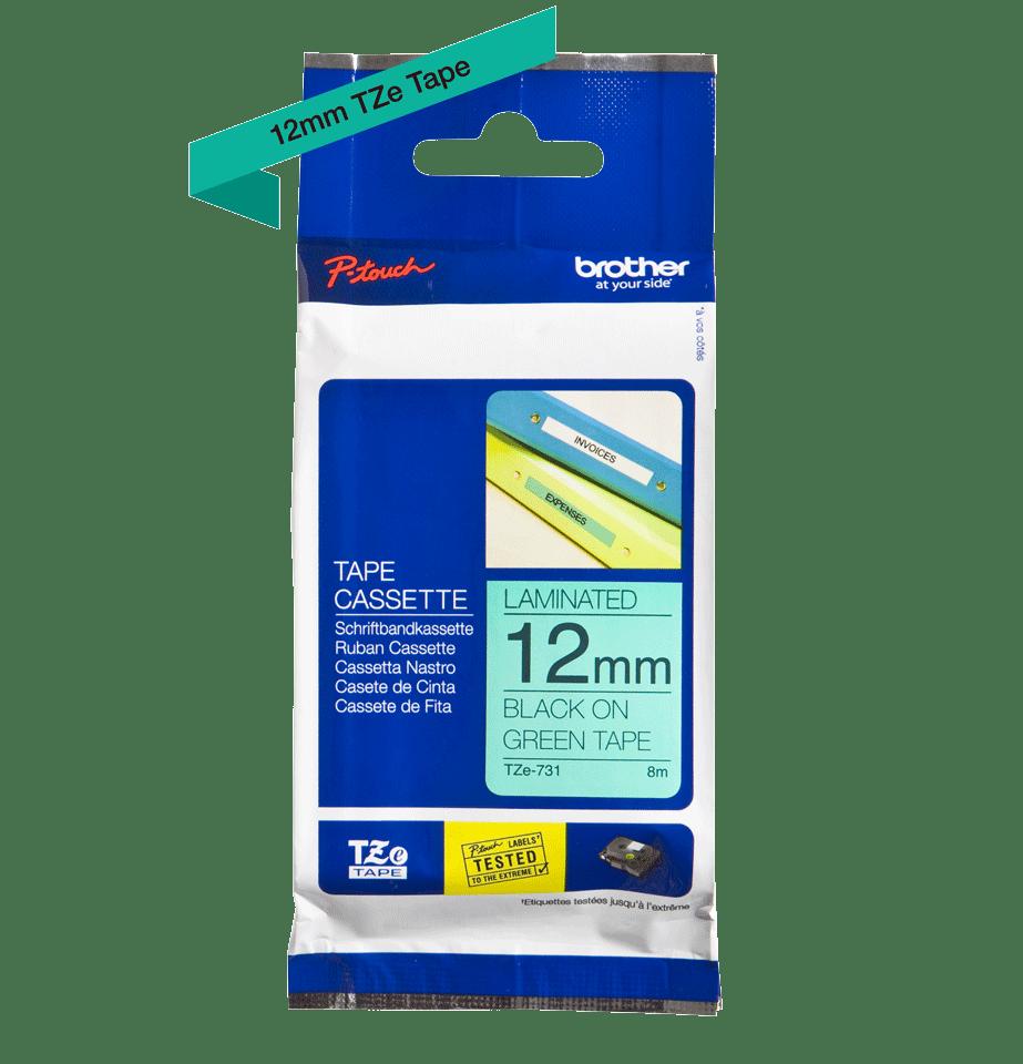 Brother TZe-731 ruban d'étiquettes 12mm 3