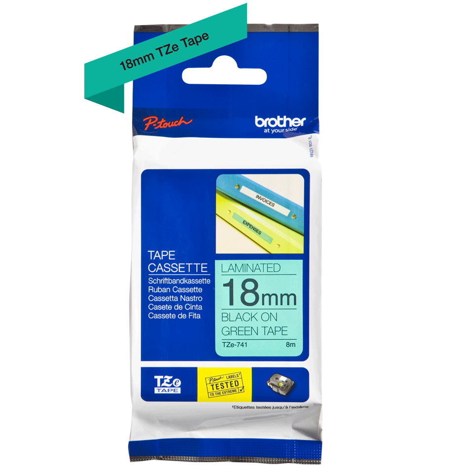 Brother TZe-741 18mm labeltape 3