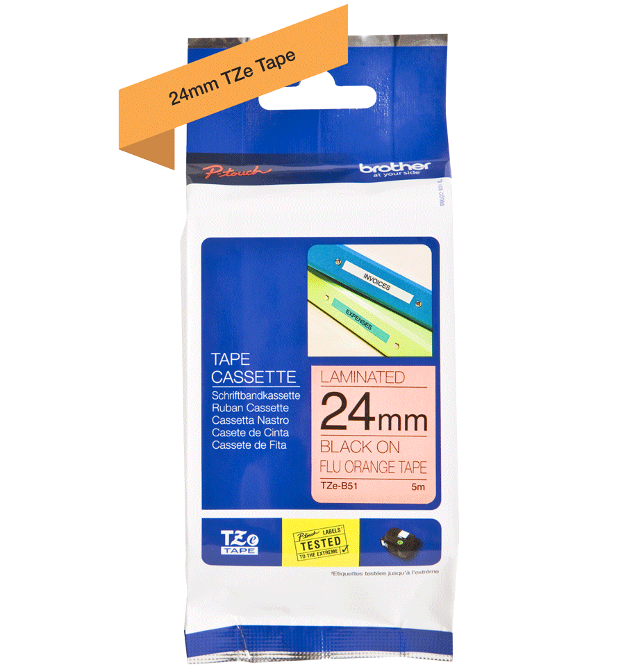 Brother TZe-B51 24mm labeltape 3