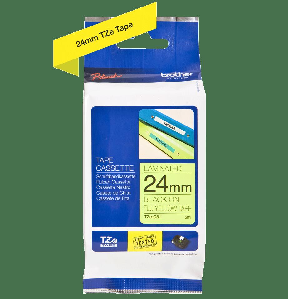 Brother TZe-C51 24mm labeltape 3