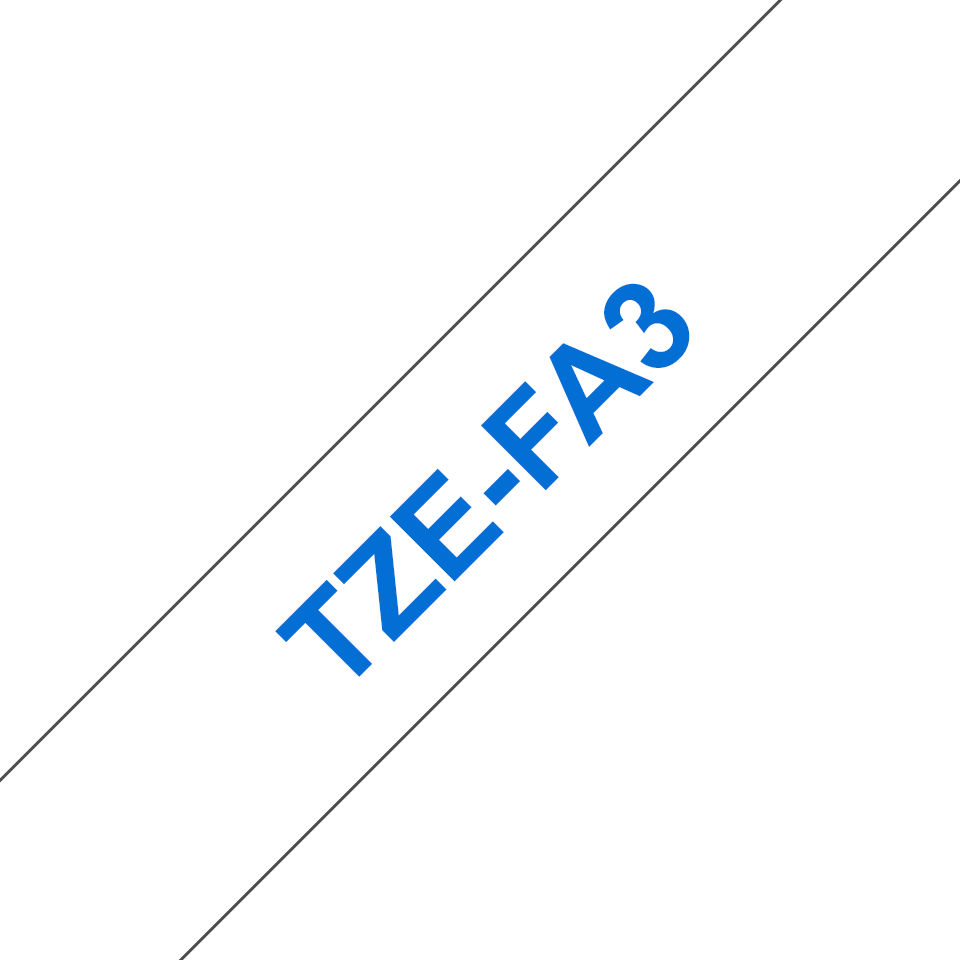Brother TZe-FA3 12mm labeltape