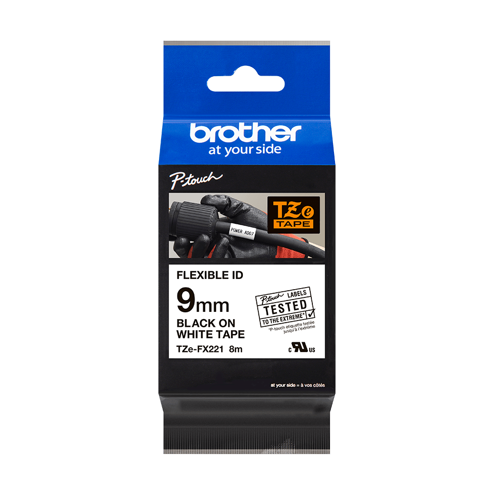 Brother TZe-FX221 9mm labeltape 3