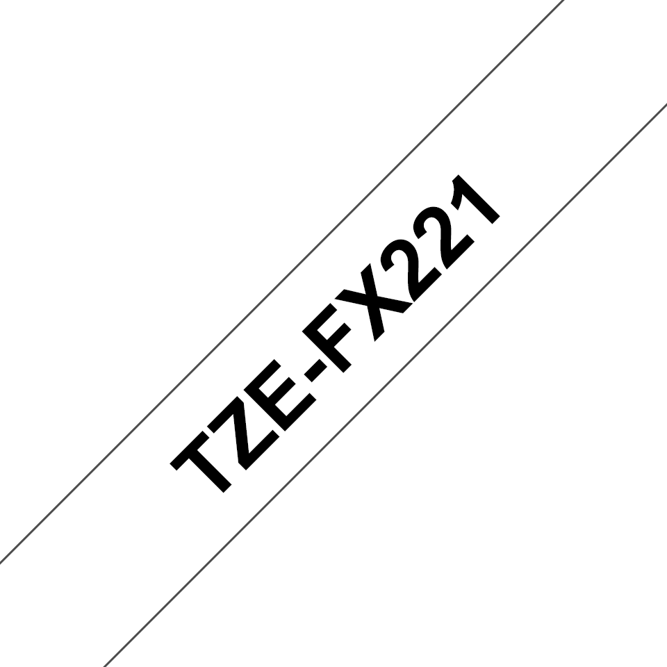 Brother TZe-FX221 9mm labeltape