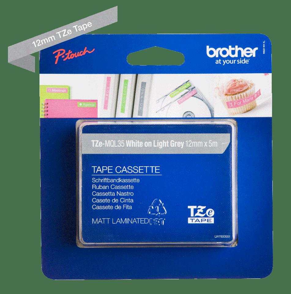 Brother TZe-MQL35 12mm labeltape 3