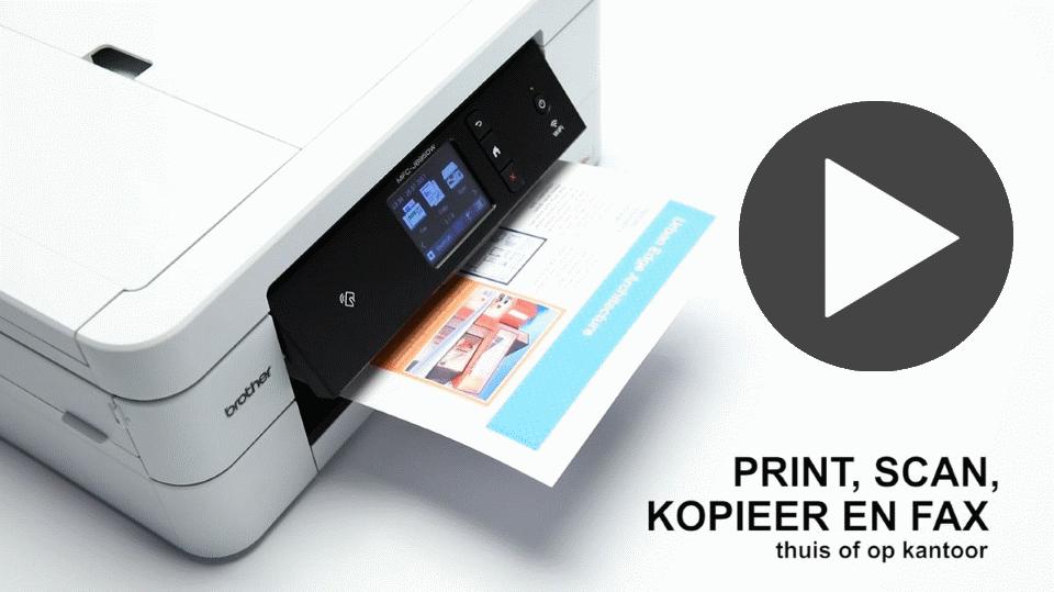 MFC-J895DW 4-in-1 kleuren inkjet printer, Wifi, Ethernet, NFC 7