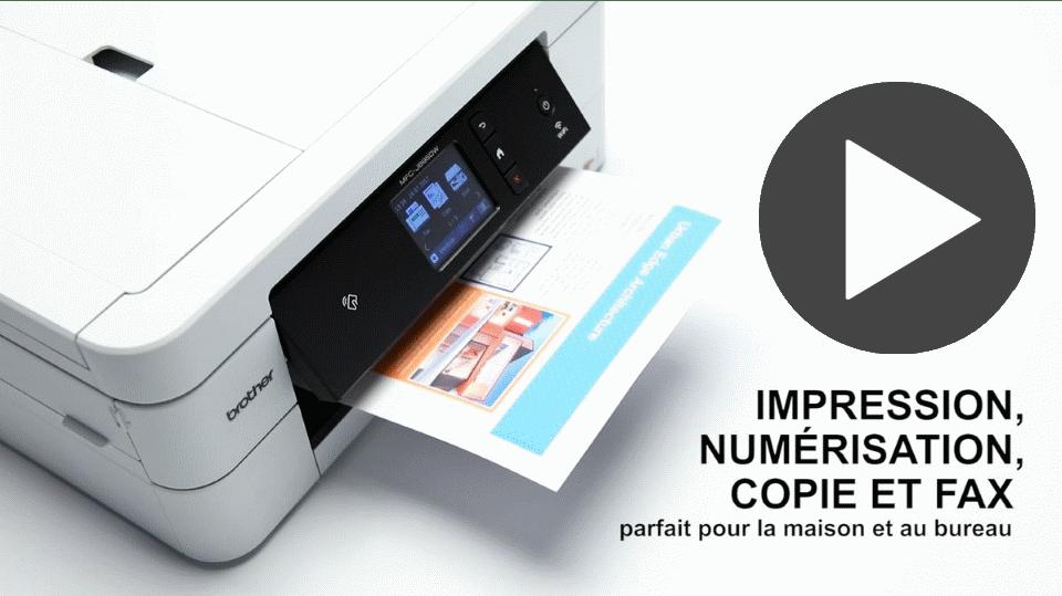 MFC-J895DW Imprimante jet d'encre couleur 4-en-1, Wifi, Ethernet, NFC 7