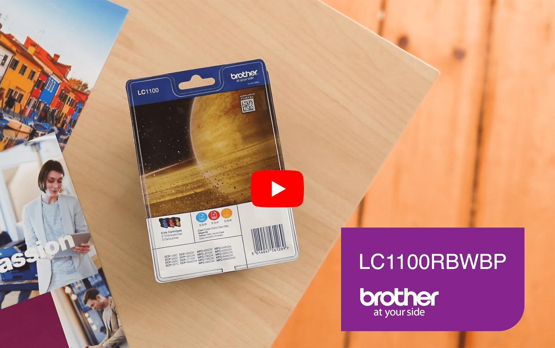 Brother LC1100RBWBP pack de cartouches d'encre - cyan, magenta et jaune 5