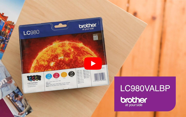 Brother LC980VALBP pack de cartouches d'encre - cyan, magenta, jaune et noir 5