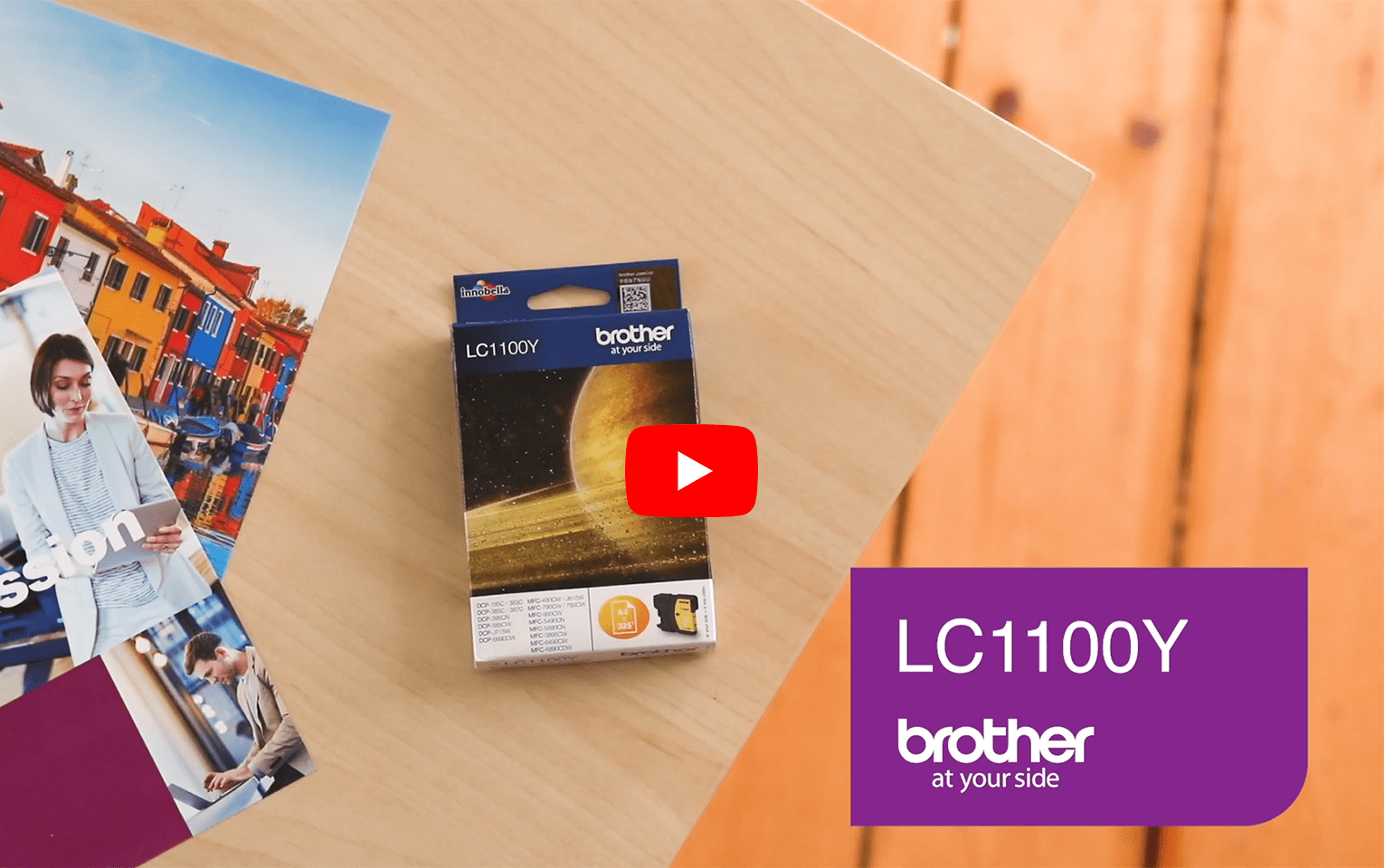 Brother LC1100Y cartouche d'encre jaune 5