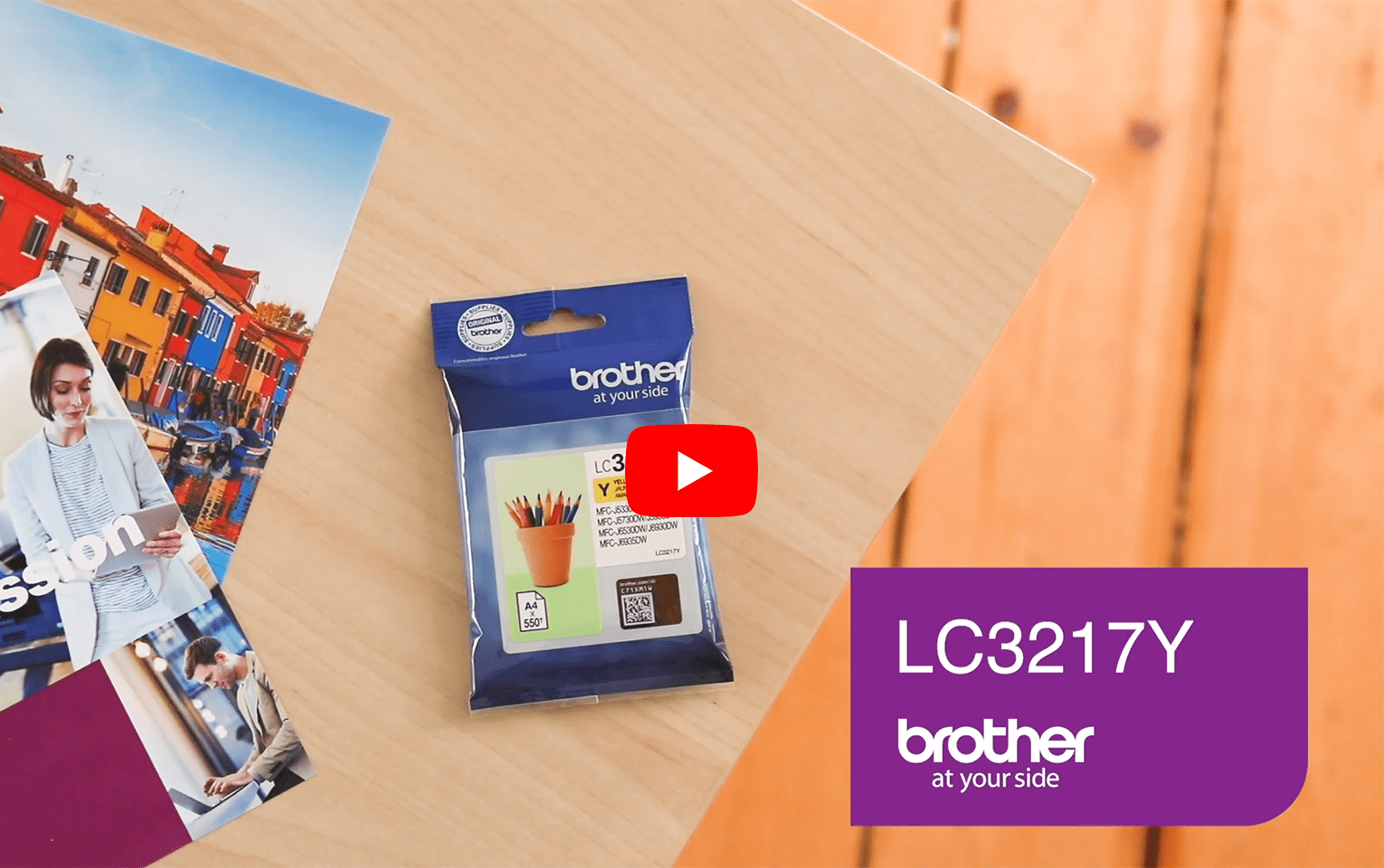 Brother LC3217Y cartouche d'encre jaune 5