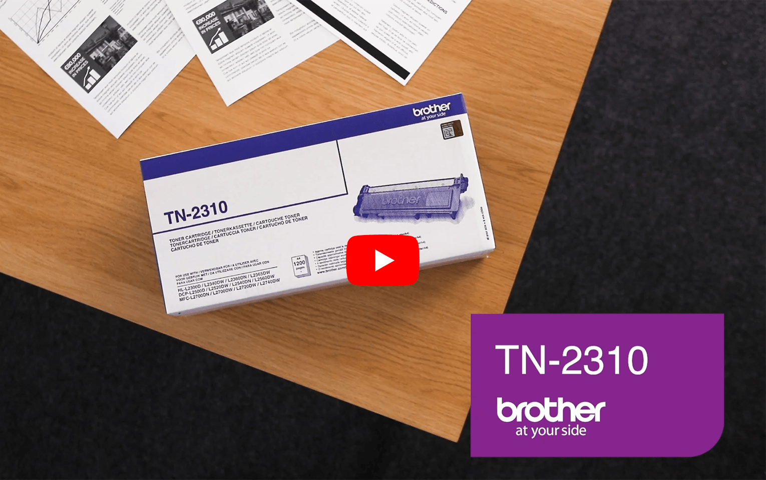 Brother TN2310 toner noir - rendement standard 5