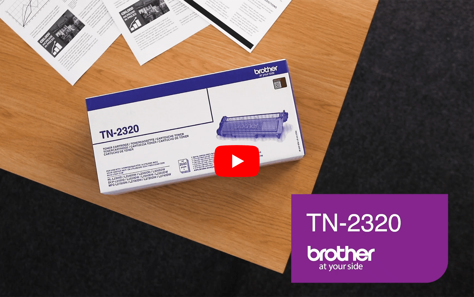 Brother TN2320 toner noir - haut rendement 5