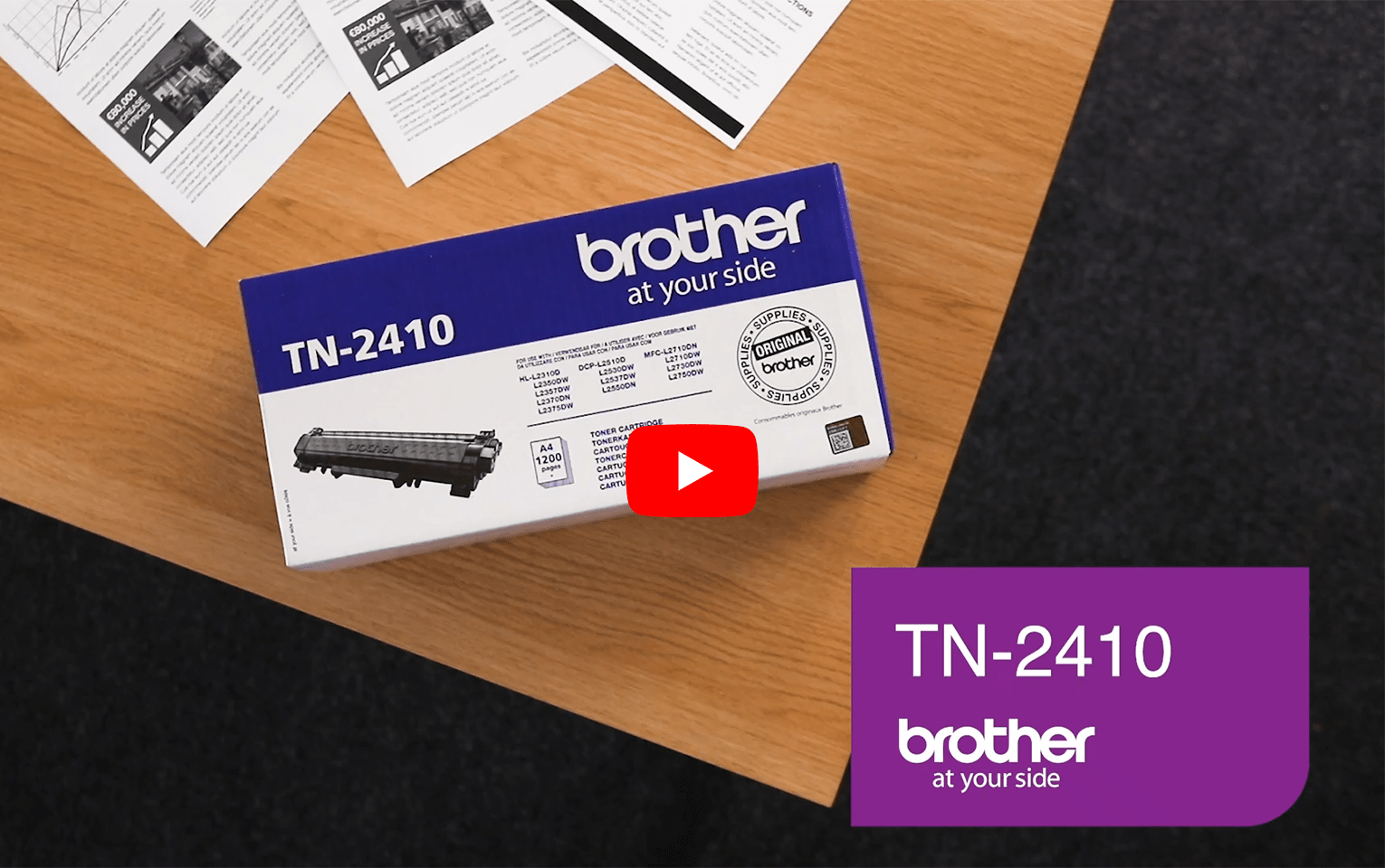 Brother TN2410 toner noir - rendement standard 5