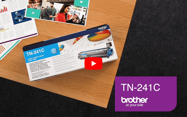 TN-241C toner cyan d'origine Brother à rendement standard 4