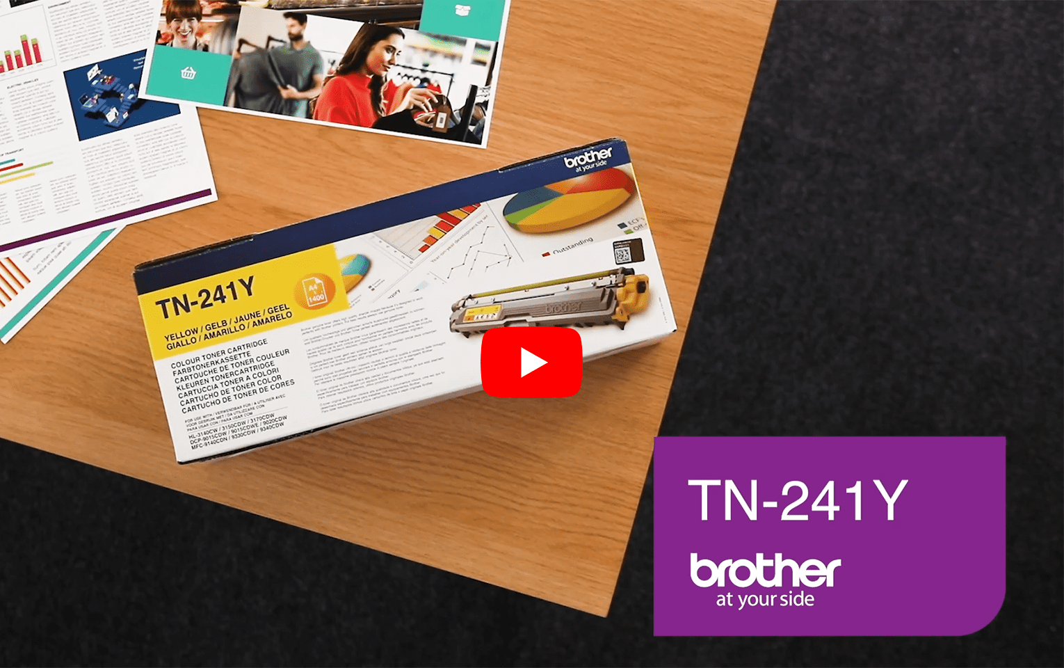 Brother TN241Y toner jaune - rendement standard 5