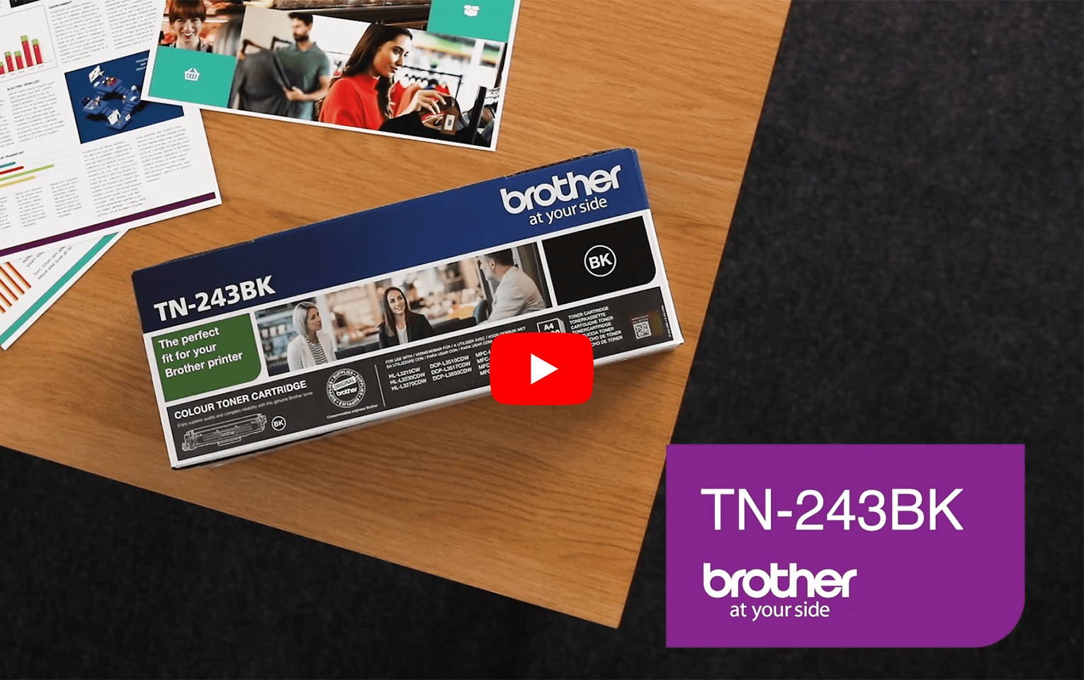 Brother TN243BK toner noir - rendement standard 5