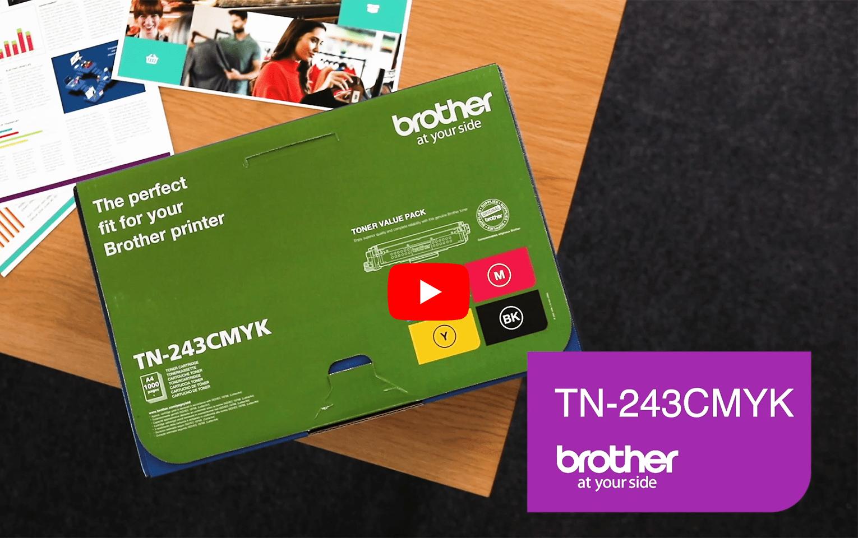Brother TN243CMYK pack de 4 toners - rendement standard 5