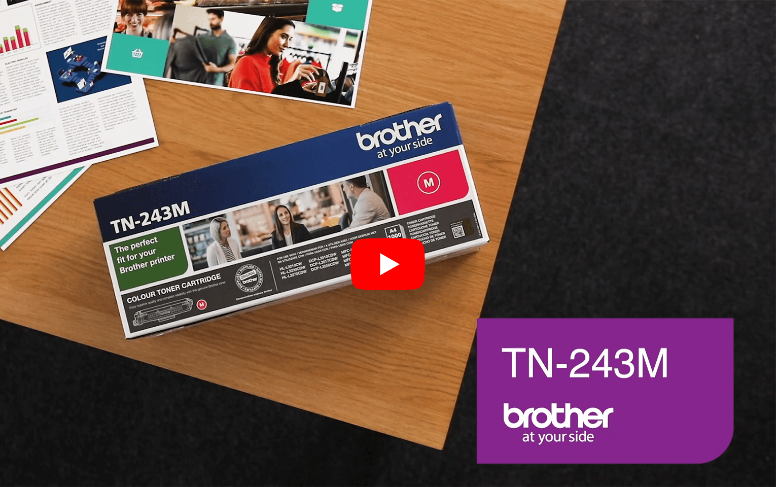 Brother TN243M toner magenta - rendement standard 5