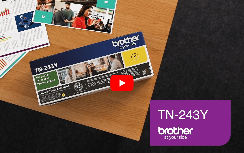 Brother TN243Y toner jaune - rendement standard 5