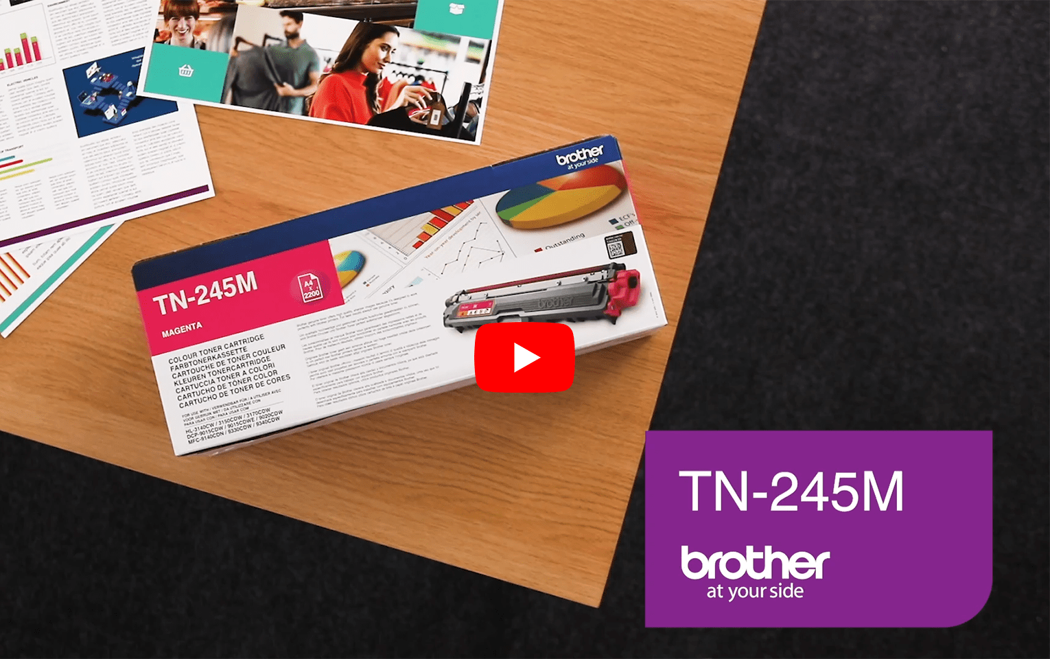 Brother TN245M toner magenta - haut rendement 5
